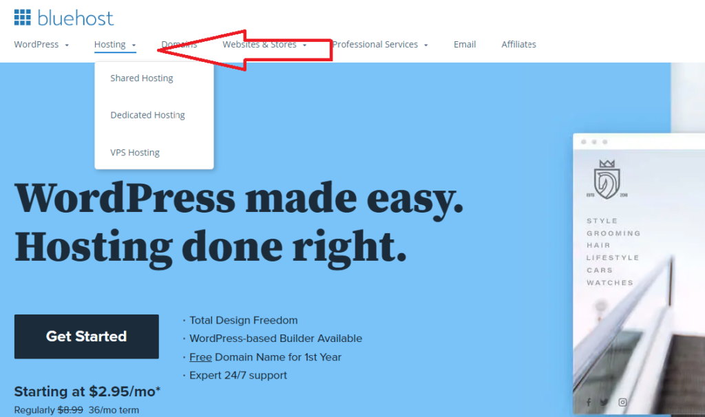 How to install WordPress on Bluehost):